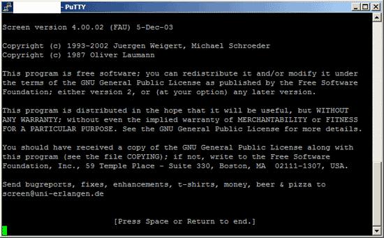 Photo of Screen: Linuxprozesse im Hintergrund