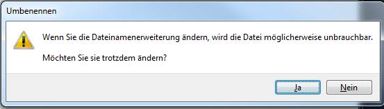 Dateiendung wirklich ändern?