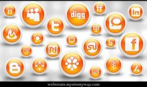108 Free Glossy Orange Orb Social Media Icons