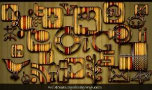 108 Free Retro Grunge Stripes Social Media Icons