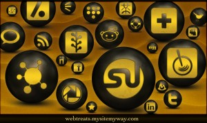 Antique Social Media Icons