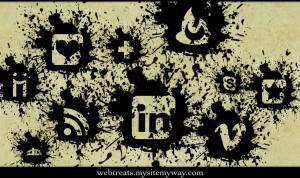 Black Paint Splatter Icons