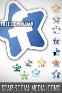 Free Download Star Social Media Icons for Social Bookmarking