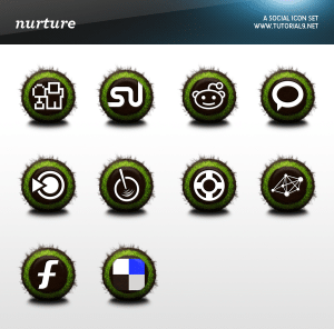 Free Social Icon Pack - Nurture