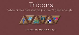 Free Social Media Icons - Tricons
