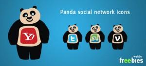 Free Vector Icons - Panda Social Network Icons