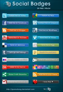 aTg Social Badges