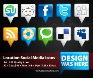 location-social-media-icons