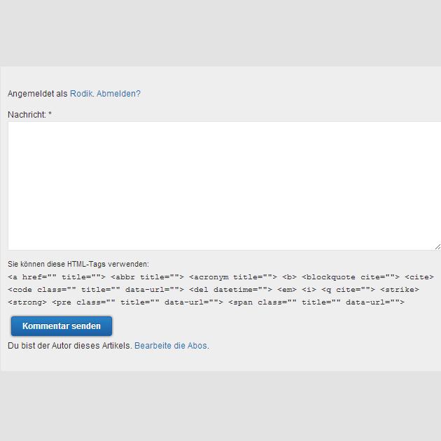 Photo of HTML-Tags in WordPress Kommentaren