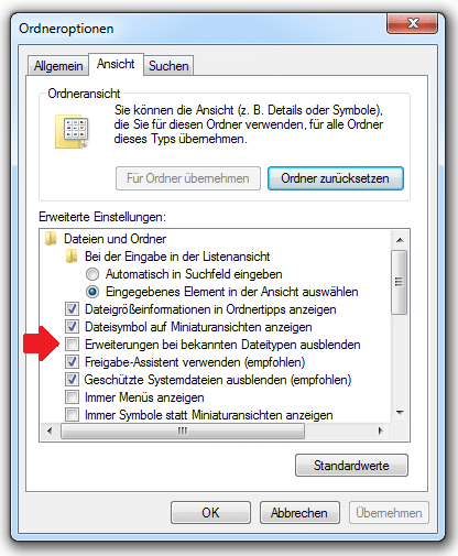 Photo of Dateiendungen unter Windows 7 anzeigen
