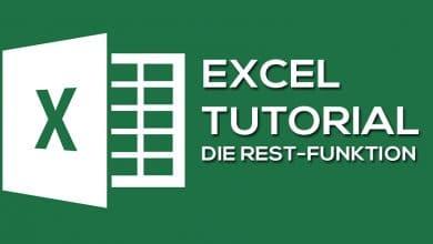 Bild von Die Excel Funktion REST
