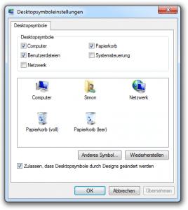 Desktopsymbole ändern