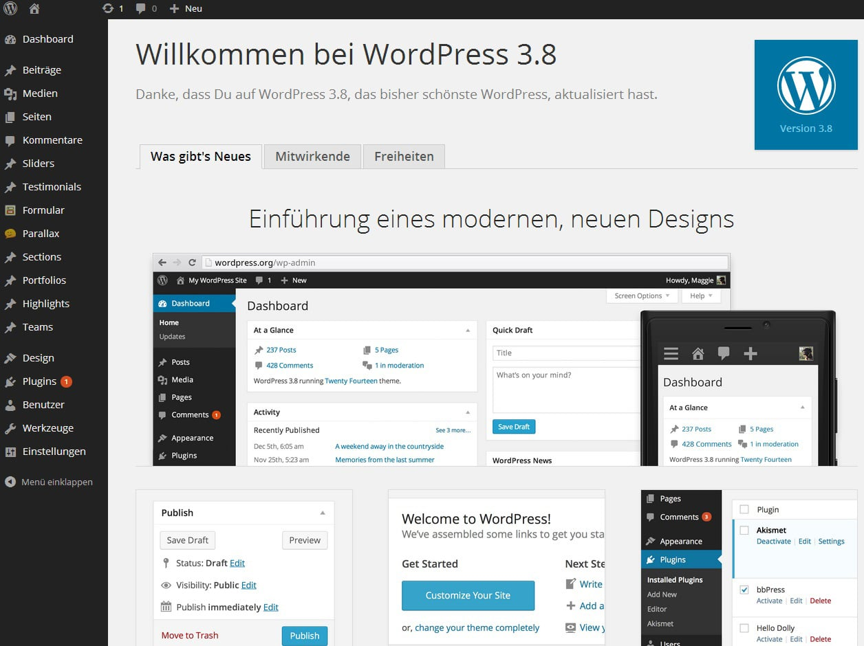 Photo of WordPress 3.8 ist erschienen