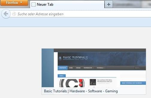 """Bild von Firefox: """"Neuer Tab""""-Kacheln künftig mit Werbung"""