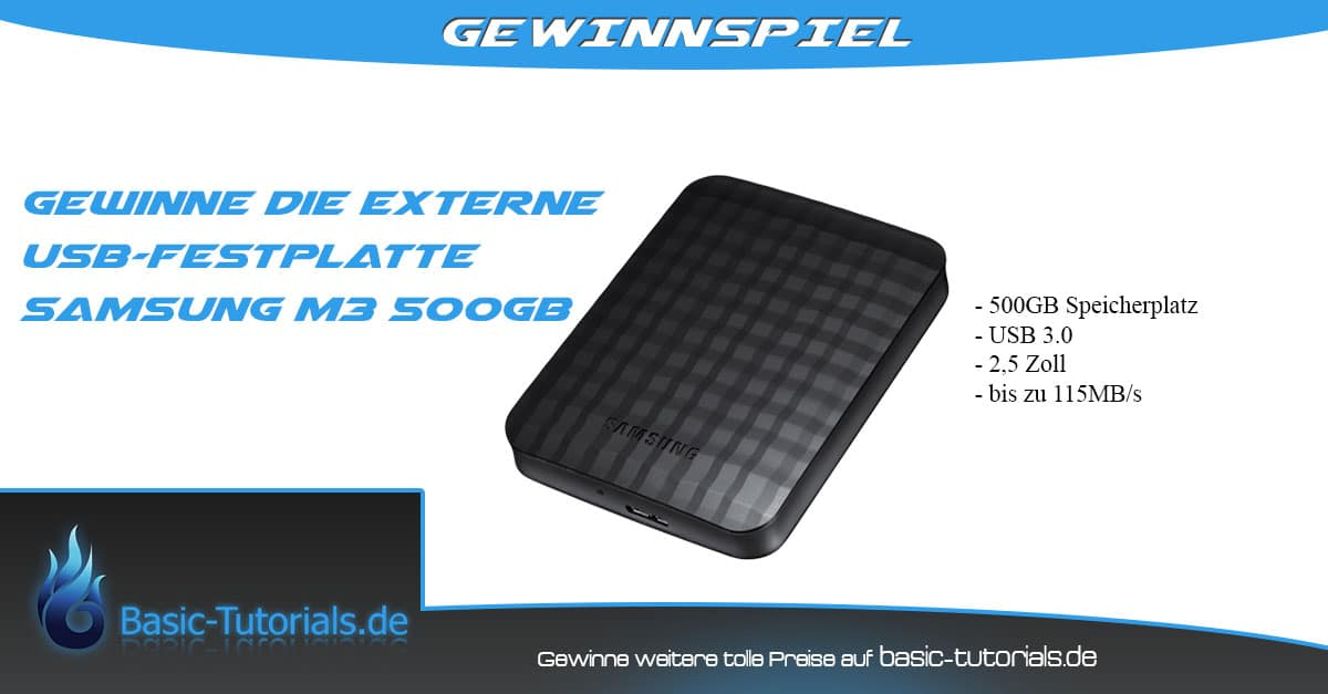 Photo of Gewinnspiel: Samsung M3 Portable 500GB