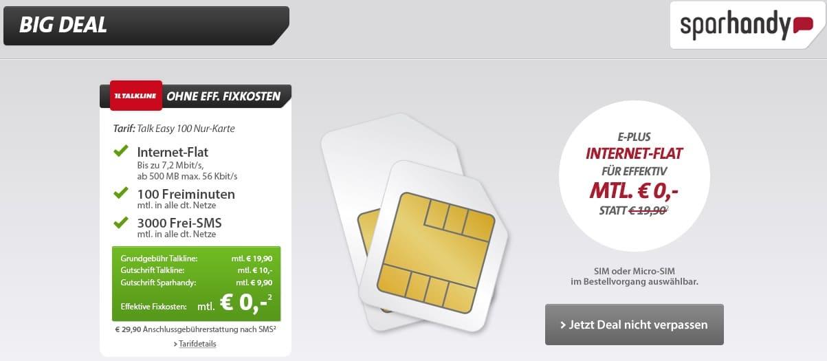Bild von Kostenlose Internet-Flat, 100 Freiminuten und 3000 Frei-SMS!