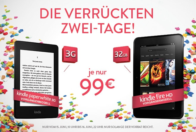 Photo of Amazon: Zwei Tage verrückte Kindle Fire HD & Paperwhite 3G Preise