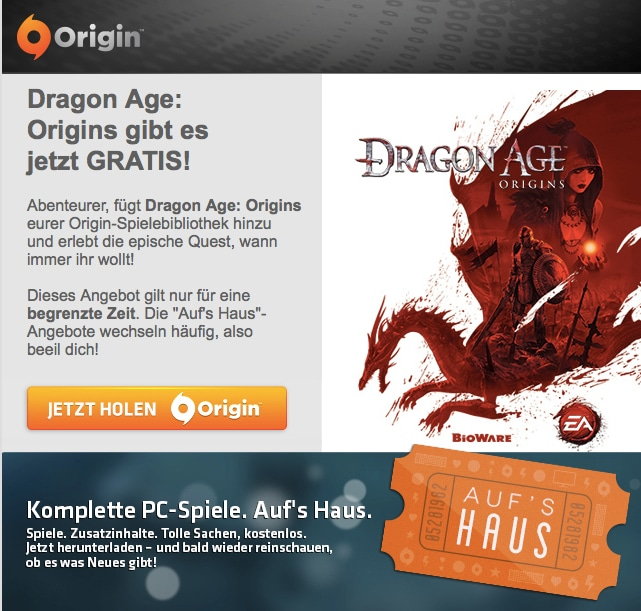 Photo of Dragon Age: Origins bis zum 14.10. gratis bei Origin