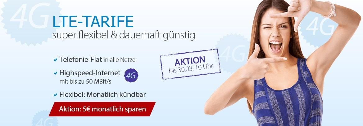 Photo of LTE-Aktionen bei DeutschlandSIM: 4G Tarife ab 14,95 Euro mtl.