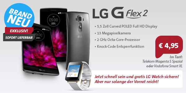 Photo of LG G Flex 2 + LG Watch Special Angebot von Sparhandy