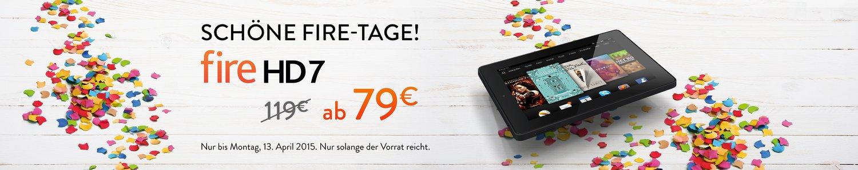 Bild von Amazon Fire HD 7 Tablet mit 40€ Rabatt für nur 79€