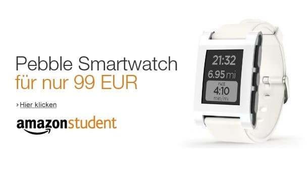 Photo of Pebble Smartwatch für nur 99 EUR mit Amazon Student