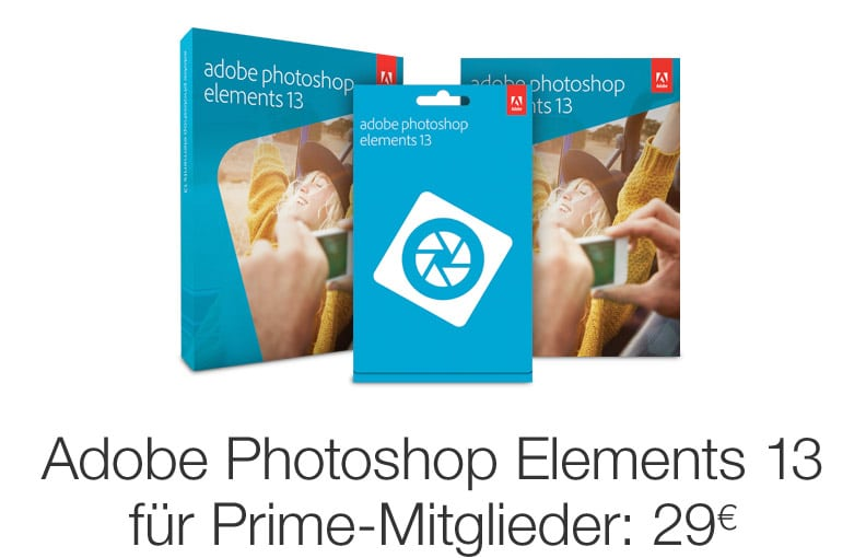 Photo of Amazon Prime: Adobe Photoshop Elements 13 für nur 29 Euro