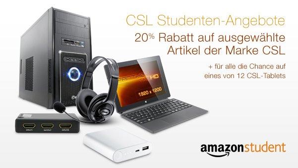 Bild von 20% Rabatt auf ausgewählte CSL-Artikel für Amazon Student-Mitglieder