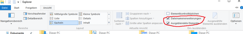 Windows 10 Dateiendung