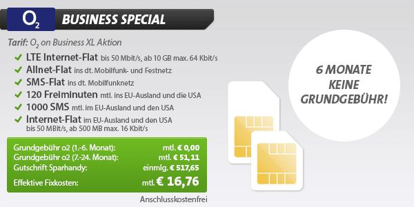 Photo of o2 Business Special für mtl. nur 16,76 Euro & Turbo-Internet-Flat ab 9,99 Euro/Monat