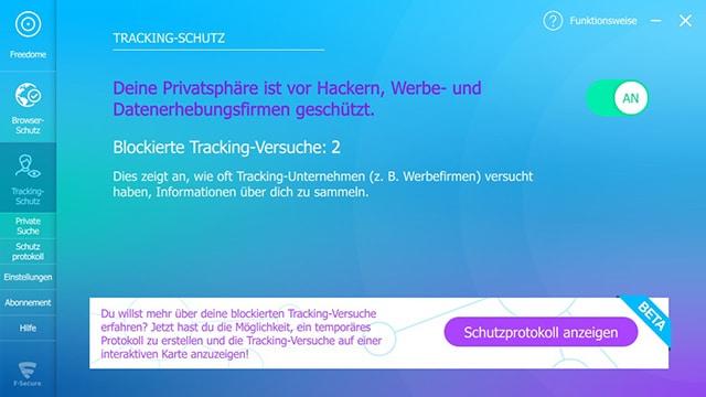 Freedome Trackingschutz
