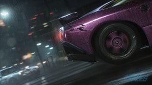 Heck eines lila Sportwagens