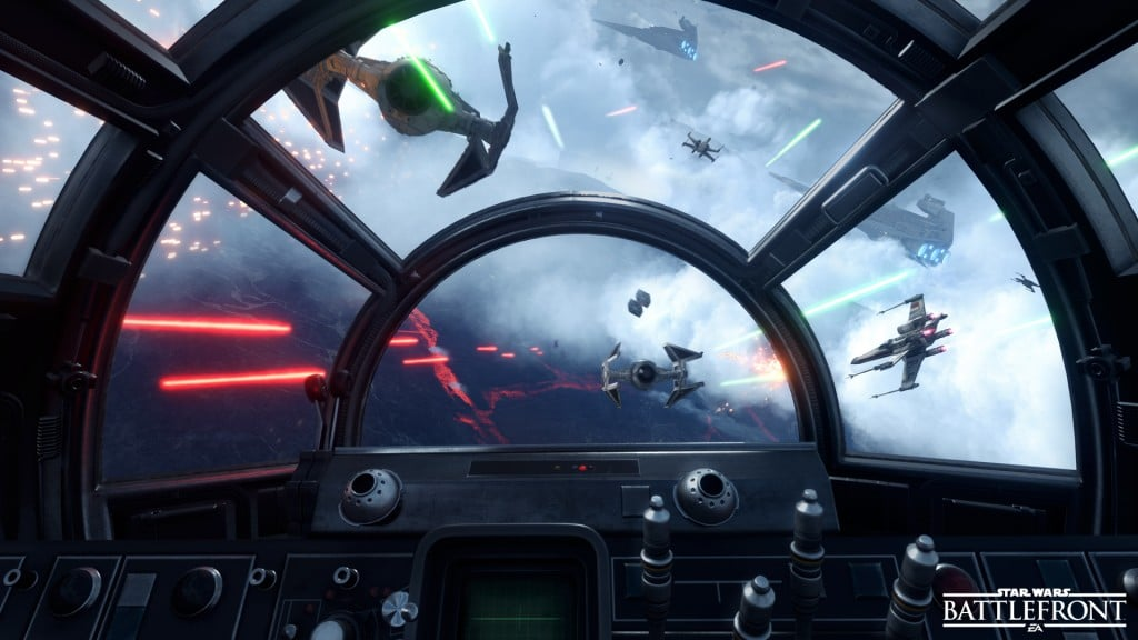 Star Wars Battlefront - Fighter Squadron - Cockpit View