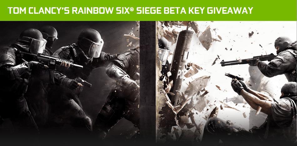 Bild von Nvidia verschenkt Rainbow Six Siege Beta-Keys