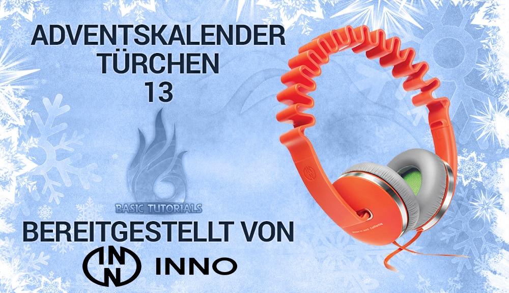 Bild von Adventskalender Türchen 13: InnoWAVE Orange Kopfhörer