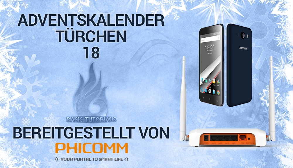 Photo of Adventskalender Türchen 18: Phicomm Clue L Smartphone & FIR302B Router