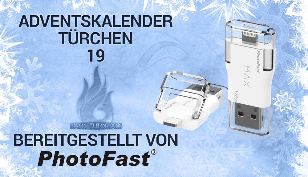 Bild von Adventskalender Türchen 19: PhotoFast i-FlashDrive MAX 32 GB U3