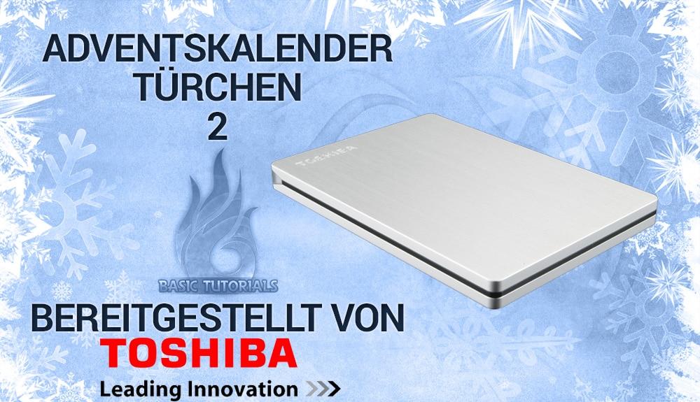 Bild von Adventskalender Türchen 2: Toshiba Canvio Slim 500GB