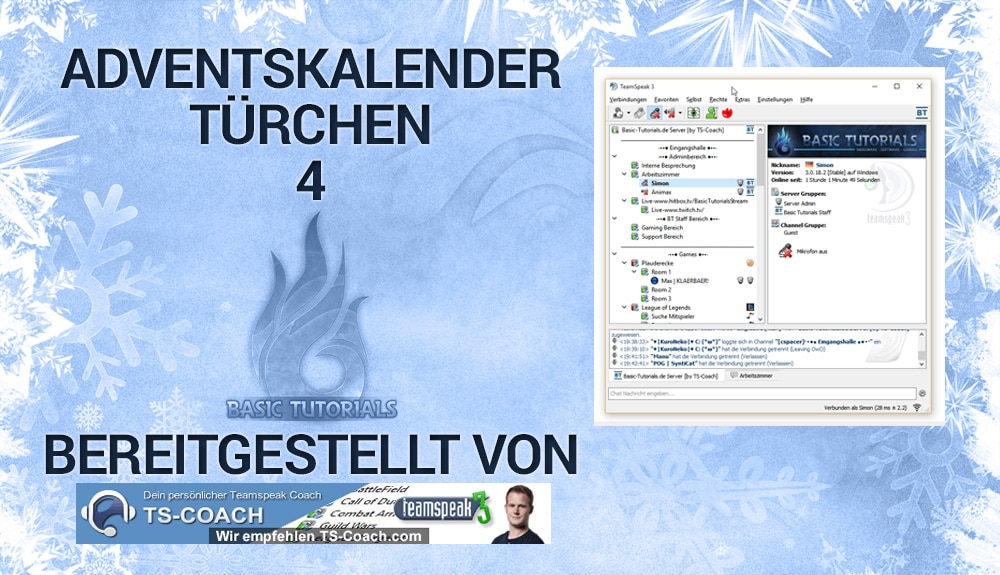 Photo of Adventskalender Türchen 4: TS3-Server für 6 Monate von TS-Coach
