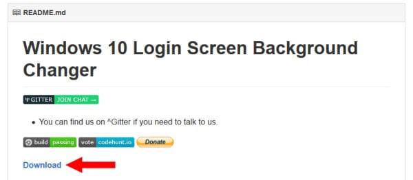 Logon screen 3