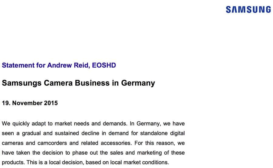 Photo of Künftig keine Samsung Kameras mehr in Deutschland
