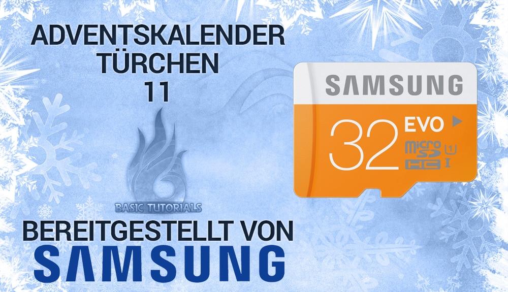 Bild von Adventskalender Türchen 11: 3x Samsung mSD-Karte EVO 32 GB