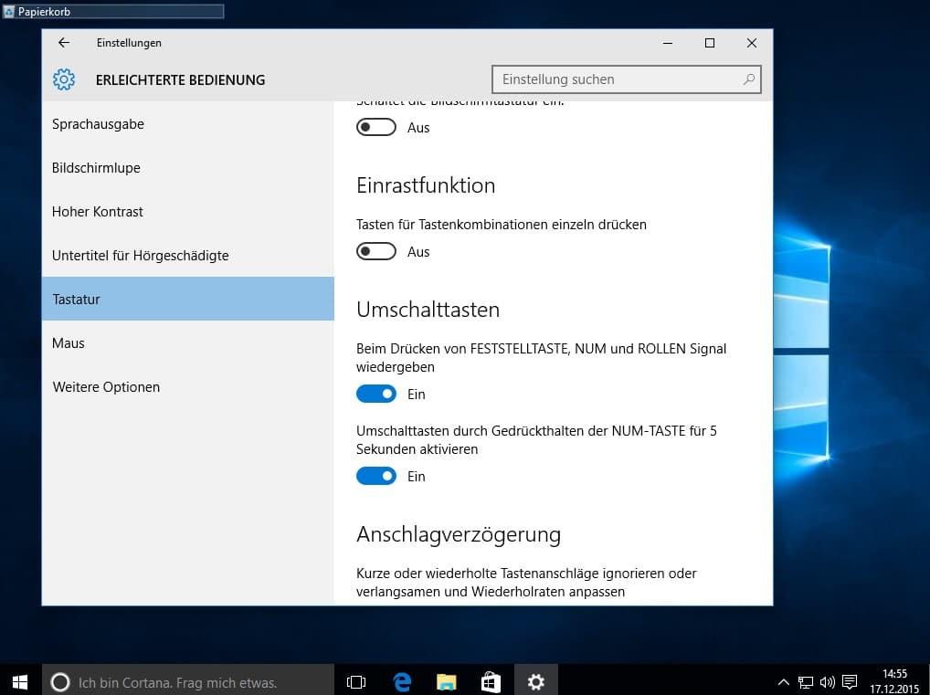 Bild von Tutorial: Windows 10 Signalton bei Num- & Caps-Lock