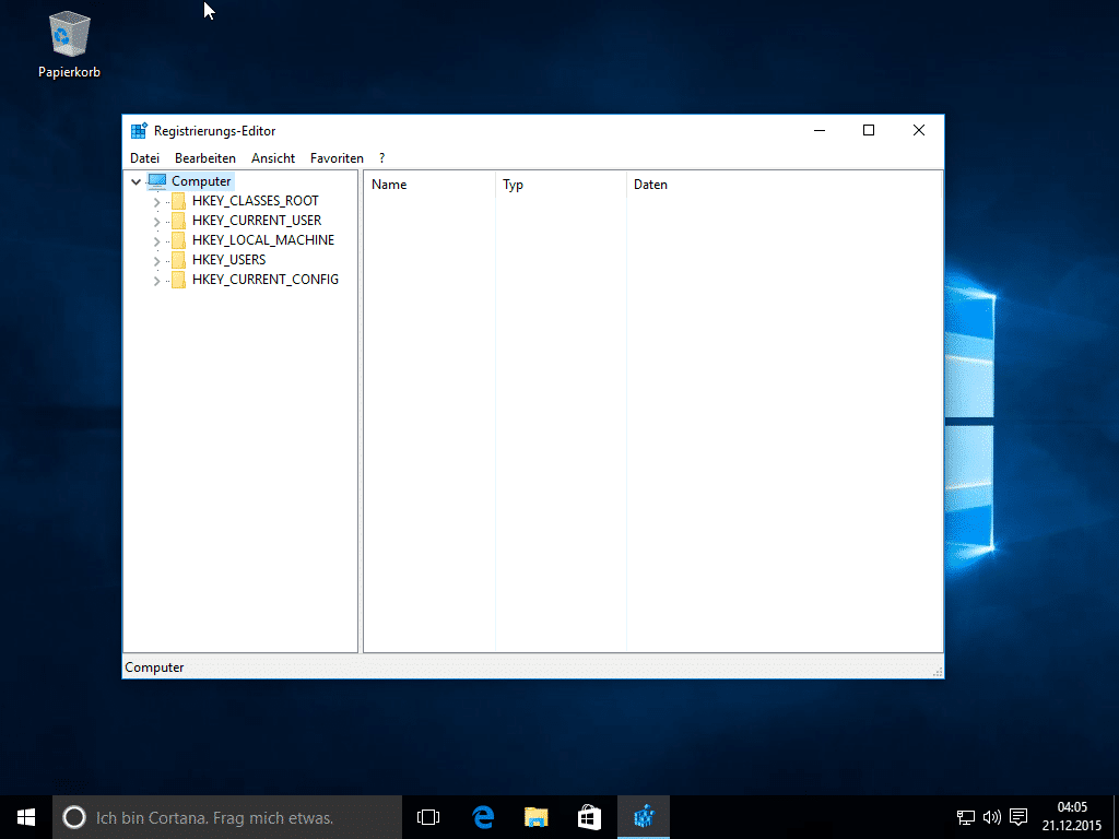 Windows 10 Registry