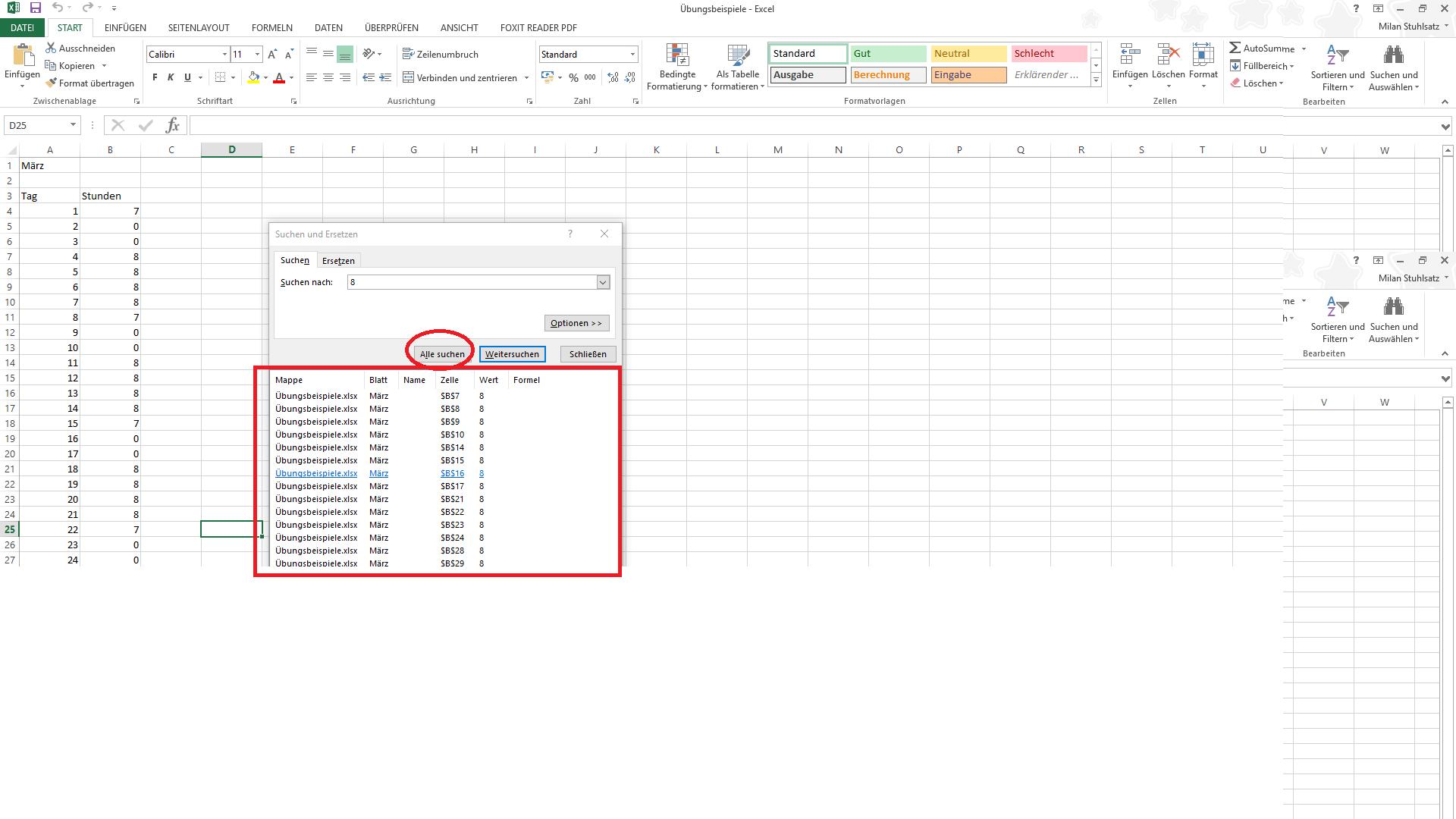 Bild von Suchen und Auswählen in Microsoft Excel