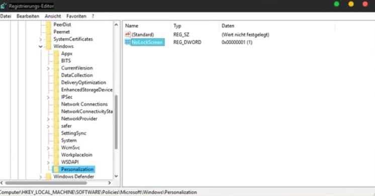 Windows 10 NoLockScreen