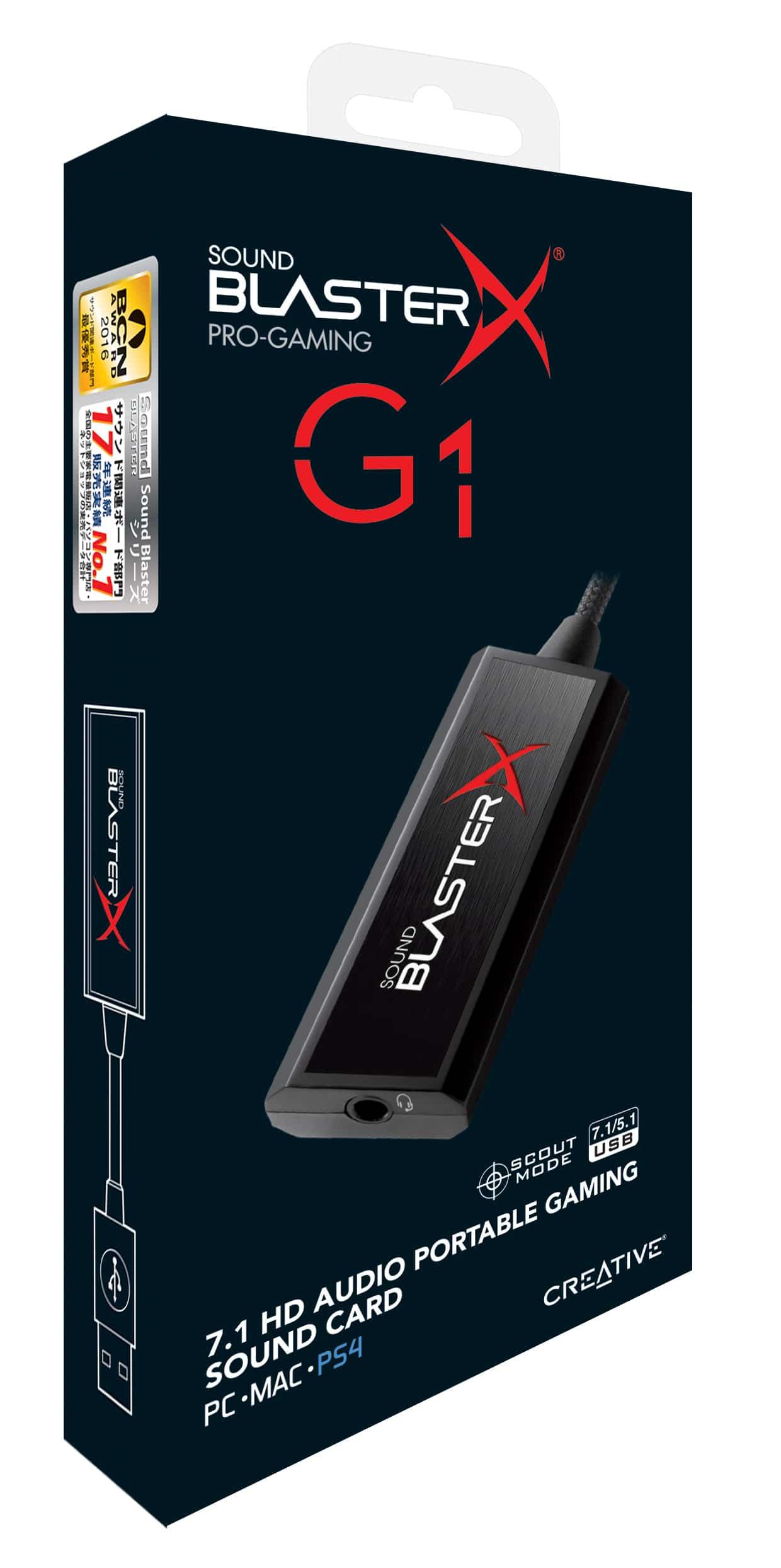 Bild von 7.1 Sound für unterwegs mit der Creative Sound BlasterX G1