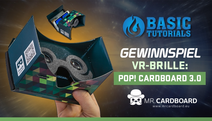 Photo of Gewinnspiel: POP! Cardboard 3.0 (VR-Brille)