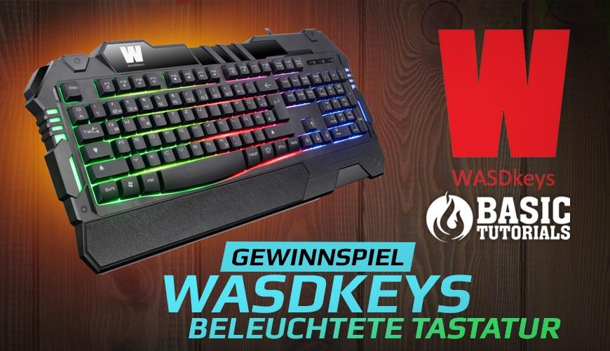 """Bild von Gewinnspiel: Beleuchtete Tastatur """"K200"""" von WASDkeys"""