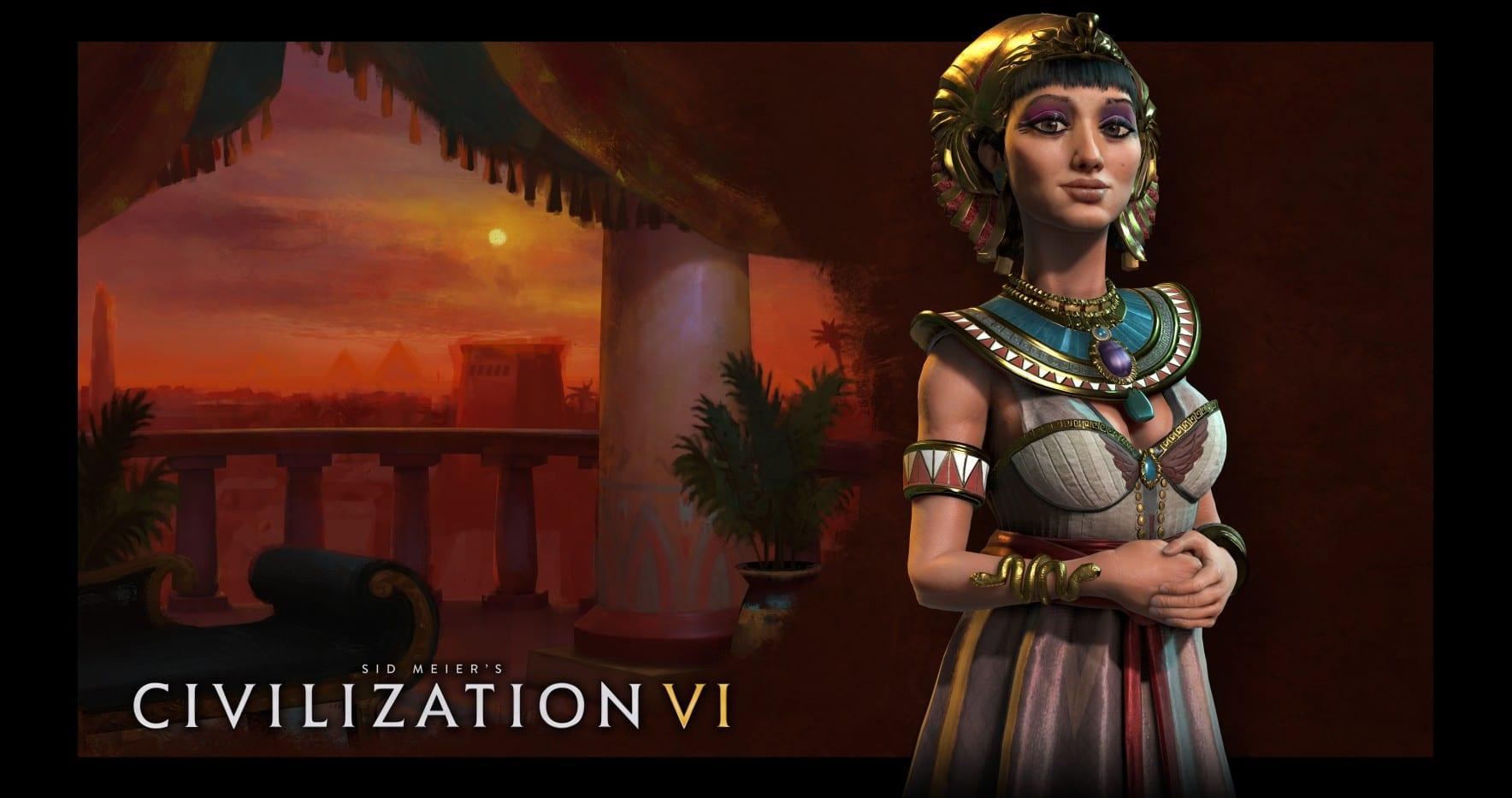 Bild von Kleopatra führt Ägypten in Civilization VI an